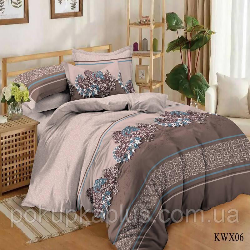 Комплект постельного белья Абстракция Сатин полуторный K-SN-KWX-06-A-B