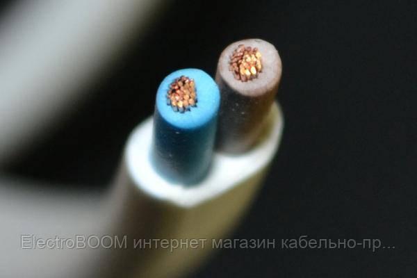 Провод СКЗ ШВВП 2х0,75 мм² белый/черный