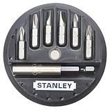 Набор бит STANLEY L= 25 мм с магнитным держателем 1/4 (7 шт), фото 2