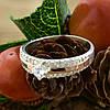 Серебряное кольцо с золотом Ника вставка белые фианиты вес 3.2 г размер 14.5, фото 3