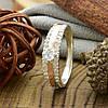 Серебряное кольцо с золотом Ника вставка белые фианиты вес 3.2 г размер 14.5, фото 4