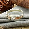 Серебряное кольцо с золотом Ника вставка белые фианиты вес 3.2 г размер 14.5, фото 5