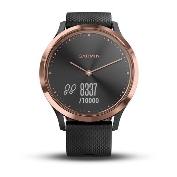 Фитнес часы Garmin Vívomove HR E.EU, Sport Black/Rose Gold