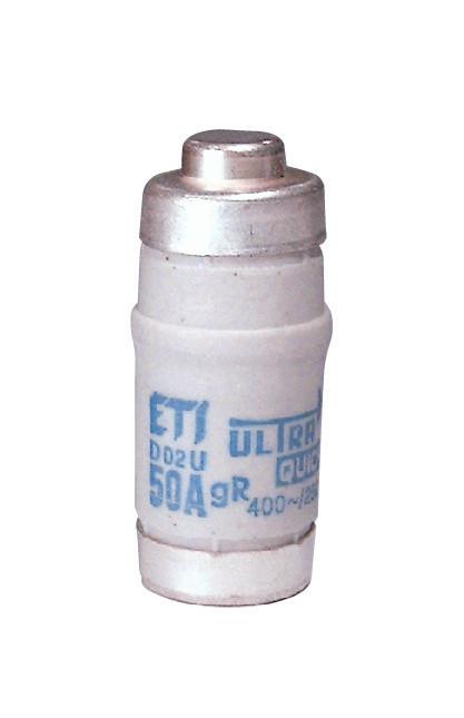 Предохранитель ETI D02 UQ gR 50A 400 E33 50kA 4312004 (сверхбыстрый)