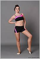 Одежда, форма для фитнеса, танцев pole dance и спорта . Топ № 1025 «Аллюр» Шорты № 1024 «Аллюр»