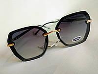 Стильные женские солнцезащитные очки черные, фото 1