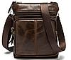 Кожаная мужская сумка барсетка Маранти / Сумка через плечо из натуральной кожи (16x19см), фото 2