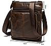 Кожаная мужская сумка барсетка Маранти / Сумка через плечо из натуральной кожи (16x19см), фото 4