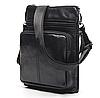 Кожаная мужская сумка барсетка Маранти / Сумка через плечо из натуральной кожи (16x19см), фото 5