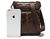 Кожаная мужская сумка барсетка Маранти / Сумка через плечо из натуральной кожи (16x19см), фото 6