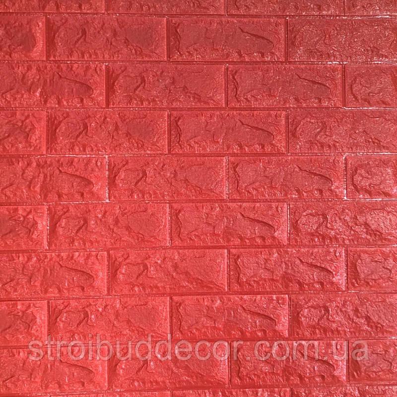Самоклеюча декоративна 3D панель під червона цегла 700*770*7мм