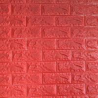 Самоклеющаяся декоративная 3D панель под красный кирпич 700*770*7мм, фото 1