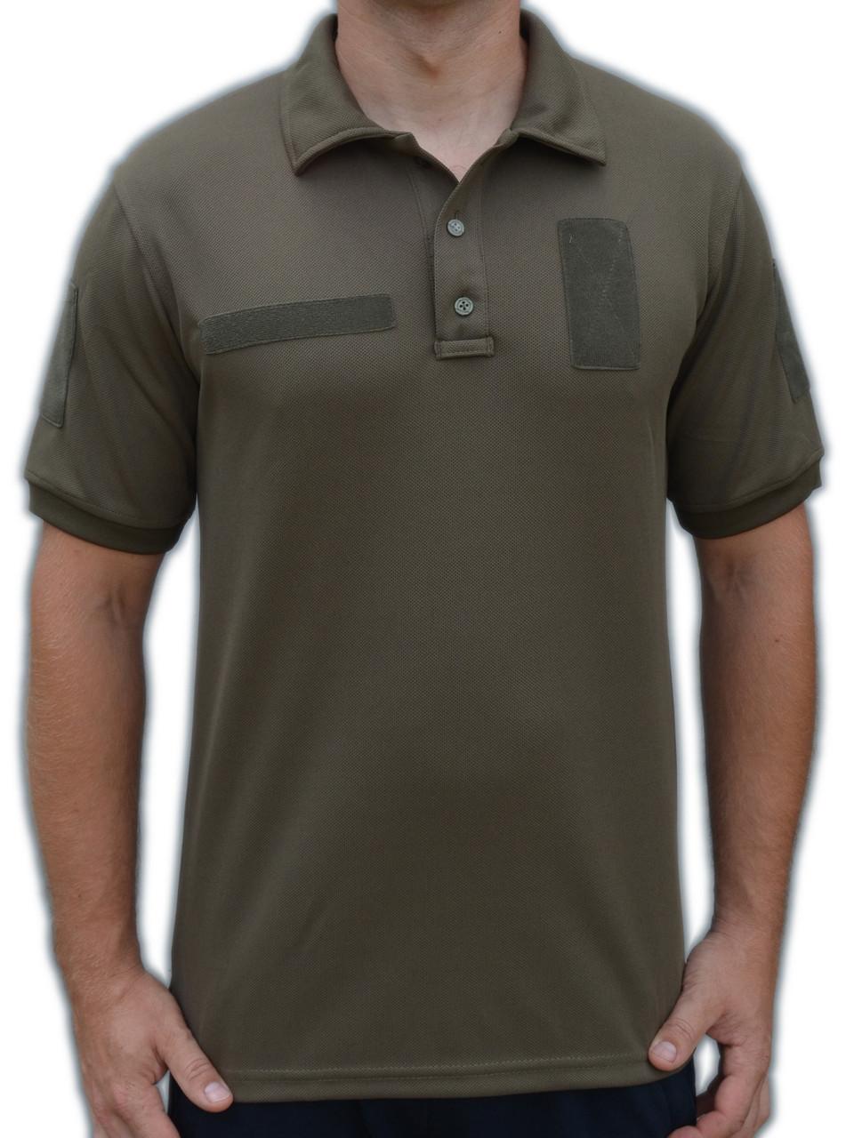Футболка-поло літня армійська з тканини CoolPass