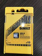 Набор сверл по металлу HSS-R DeWALT 13 штук