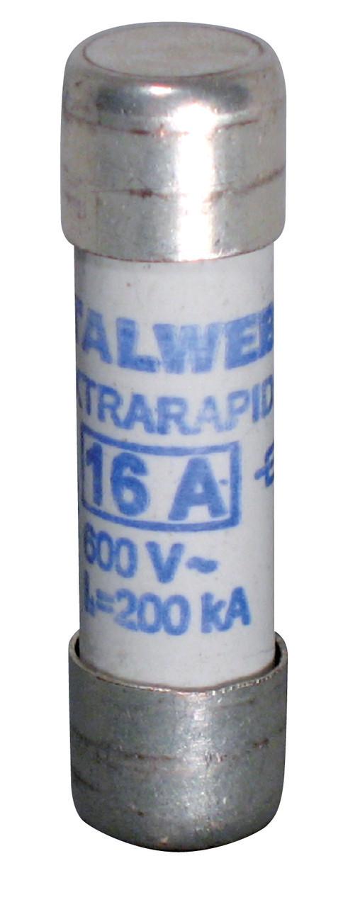 Предохранитель ETI CH 10x38 UQ aR 10A 690V 200kA 2625007 (сверхбыстрый, керамика)