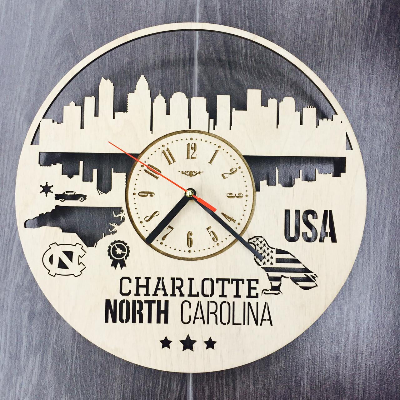 Интерьерные часы на стену «Шарлотт, Северная Каролина»
