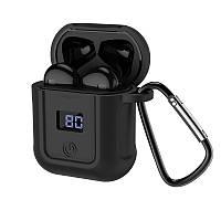 Bluetooth гарнитура HOCO S11 + чёрный силиконовый футляр