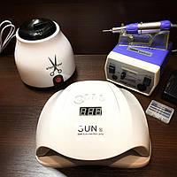 Профессиональный набор для маникюра с лампой Sun X, фрезером JD-700 и кварцевым стерилизатором Tools Sterilize