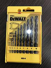 Набор сверл по металлу HSS-R DeWALT 10 штук