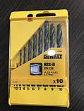 Набор сверл по металлу HSS-R DeWALT 10 штук, фото 2