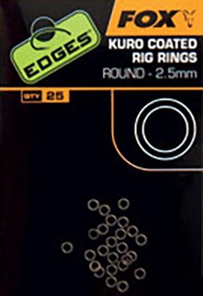 Мікро кільця Fox Edges Kuro O Rings 3.7 mm Small x 25pc