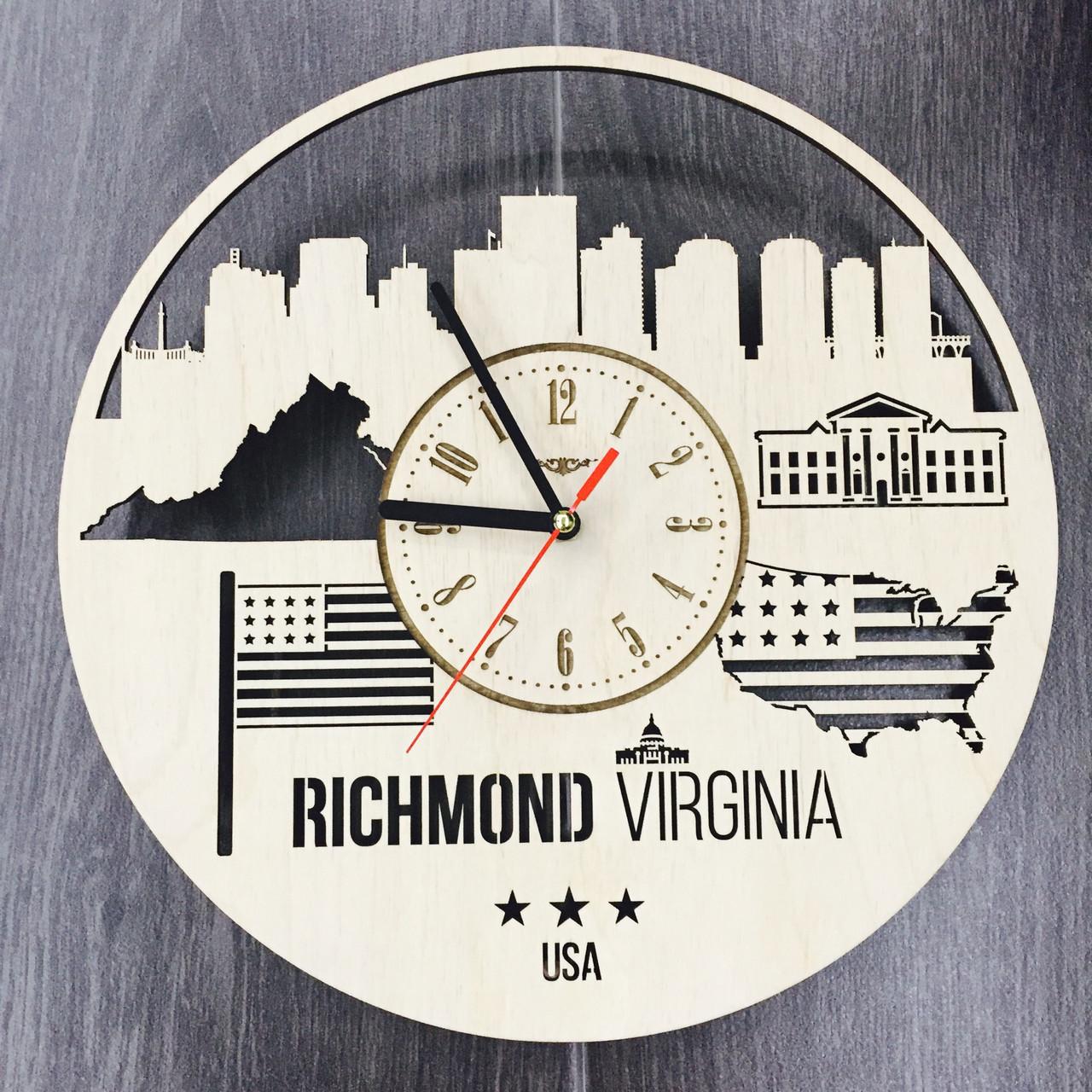 Интерьерные часы на стену «Ричмонд, Виргиния»