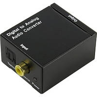 Переходник оптического звукового сигнал  на аналоговый RCA Toslink +БП