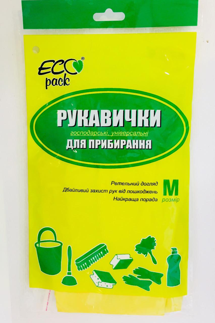 Перчатки хозяйственные латексные ТМ Эко