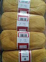 Турецкая  пряжа для вязания KARTOPU- kristal (кристалл)- 1327 золото