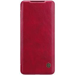 Чехол (книжка) для Samsung Galaxy S20+, Nillkin, Qin Series, кожаный