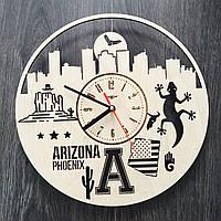 Дизайнерские часы на стену «Финикс, Аризона», фото 1