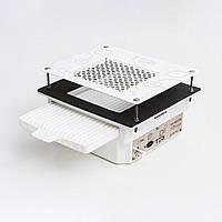 Teri Turbo встраиваемая в стол маникюрная вытяжка с HEPA фильтром, сетка белая нержавейка c рисунком, фото 1
