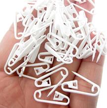 Булавка пластиковая для крепления бирок, 5 шт., цвет белый