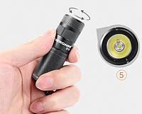 Мини фонарь Nicron B10 3Вт 3 режима 200 лм Фонарик брелок (Оригинал) + аккумулятор Nicron