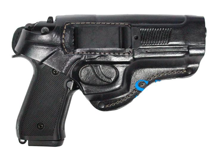 Поясная кобура из кожи для пистолета Beretta 92, Elite 2, Umarex со скобой