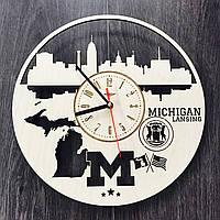 Дизайнерские часы на стену «Лансинг, Мичиган», фото 1