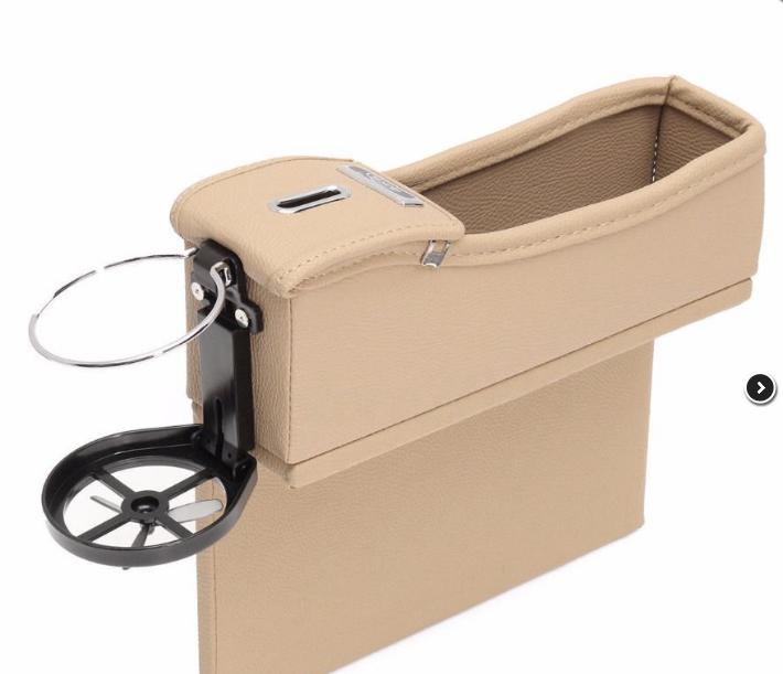 Органайзер в авто между консолью сиденьем  в машину, цвет черный и коричневый + подарок
