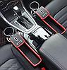 Органайзер в авто между консолью сиденьем  в машину, цвет черный и коричневый + подарок, фото 3