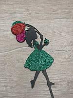Топпера принцесса цветная.Зеленая