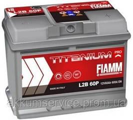 Аккумулятор автомобильный Fiamm Titanium Pro 60AH L+ 540А (L2 60P)