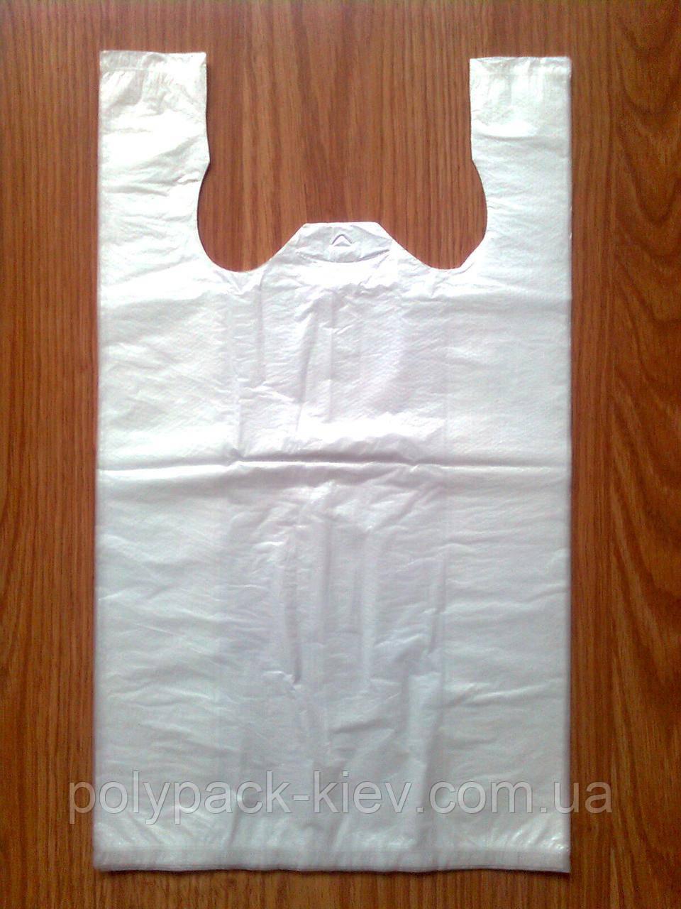 Пакети-майка супер 25х43 см/12 мкм біла, міцні білі пакети пакет пакувальний кульки від виробника оптом