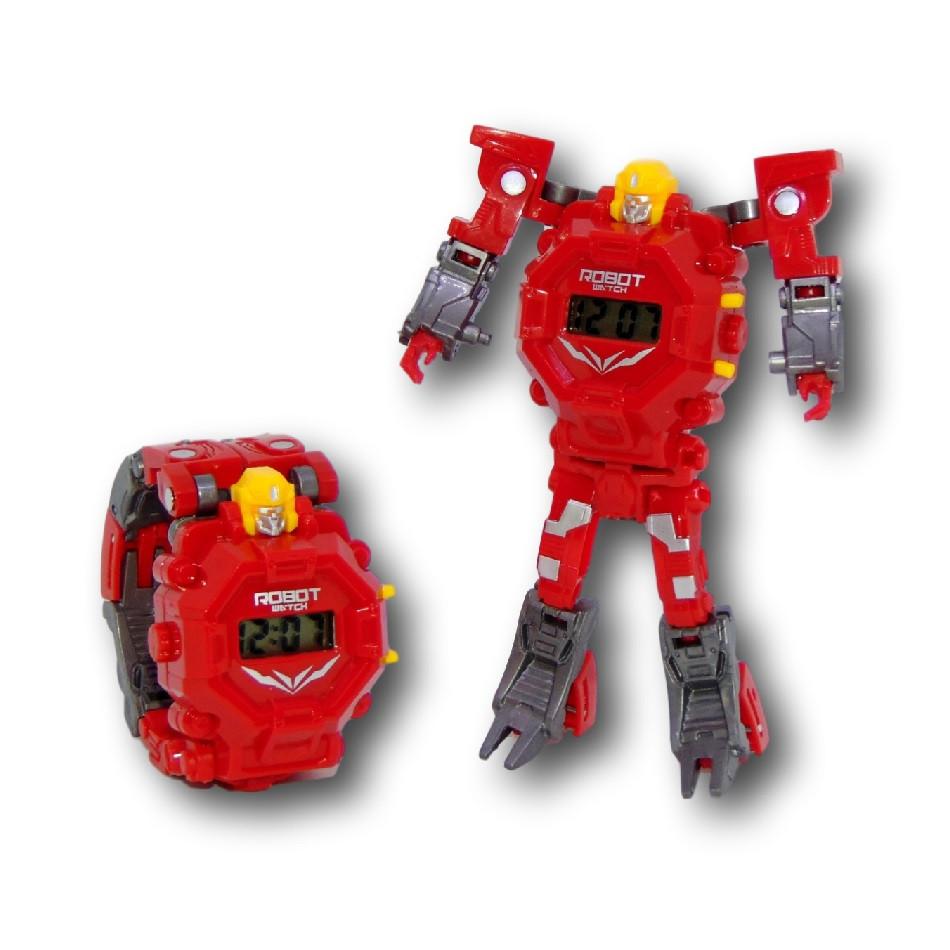 """Детские наручные часы игрушка """"Робот-трансформер"""" (красный)"""