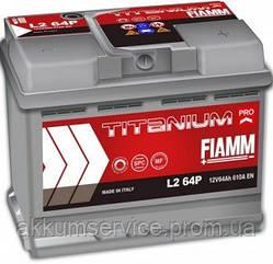 Аккумулятор автомобильный Fiamm Titanium Pro 64AH R+ 610А (L2 64P)