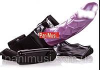 Страпон унисекс Гелевый пустотелый протез пениса с вибрацией 18 см