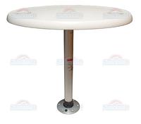 Комплект стол овальный 45х76см основание алюминий с замком 1690106