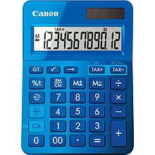 Калькулятор Canon LS-123K Blue (9490B001); настольный, 12-разрядный, литиевая + солнечная батарея (двойное), 145 x 104 x 25 мм
