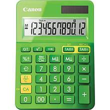 Калькулятор Canon LS-123K Green (9490B002); настольный, 12-разрядный, литиевая + солнечная батарея (двойное), 145 x 104 x 25 мм