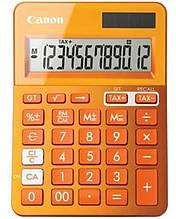 Калькулятор Canon LS-123K Orange (9490B004); настольный, 12-разрядный, литиевая + солнечная батарея (двойное), 145 x 104 x 25 мм