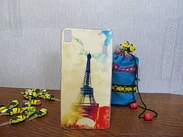 Пластиковый бампер чехол с рисунком для Lenovo A7000 K3 Note Париж