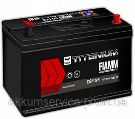 Аккумулятор автомобильный Fiamm Black Titanium 95AH R+ 760А Asia (D31 95)